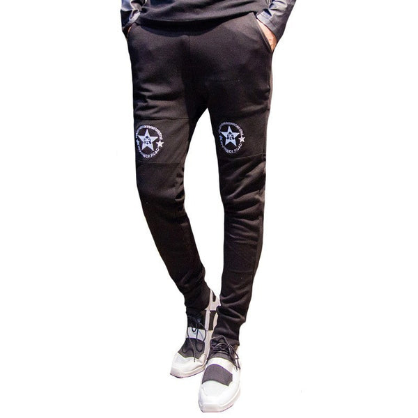 Trousers - Star Embroidery Sports Pants