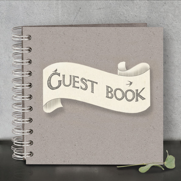 East of India's 'Guest Book' Ring Binder Book with Ribbon