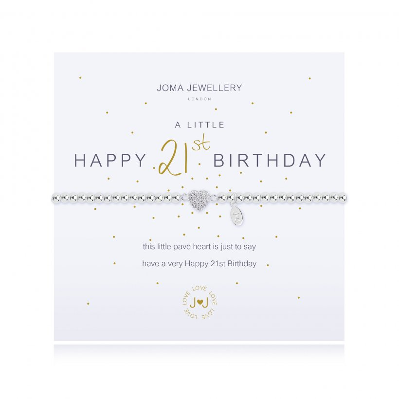 Joma Jewellery 'A Little Happy 21st Birthday' Bracelet