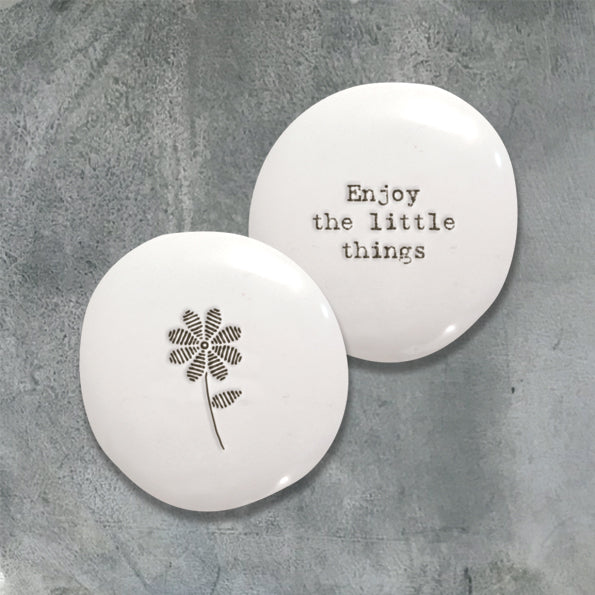East of India 'Enjoy The Little Things' Porcelain Pebbles