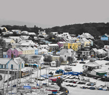 Load image into Gallery viewer, 'Saundersfoot Village in the Snow' - Colour Pop