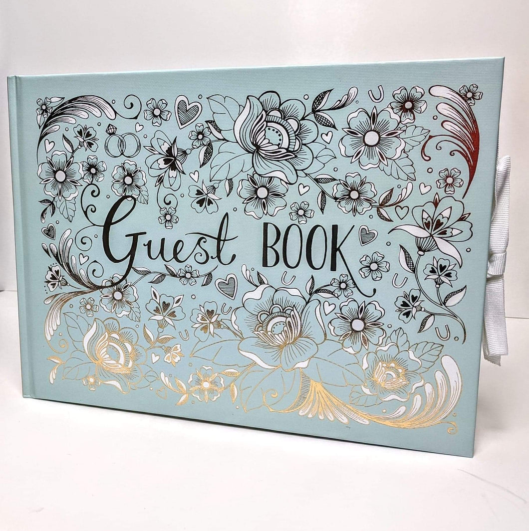 Wedding Guest Book with Gold Leaf Edge
