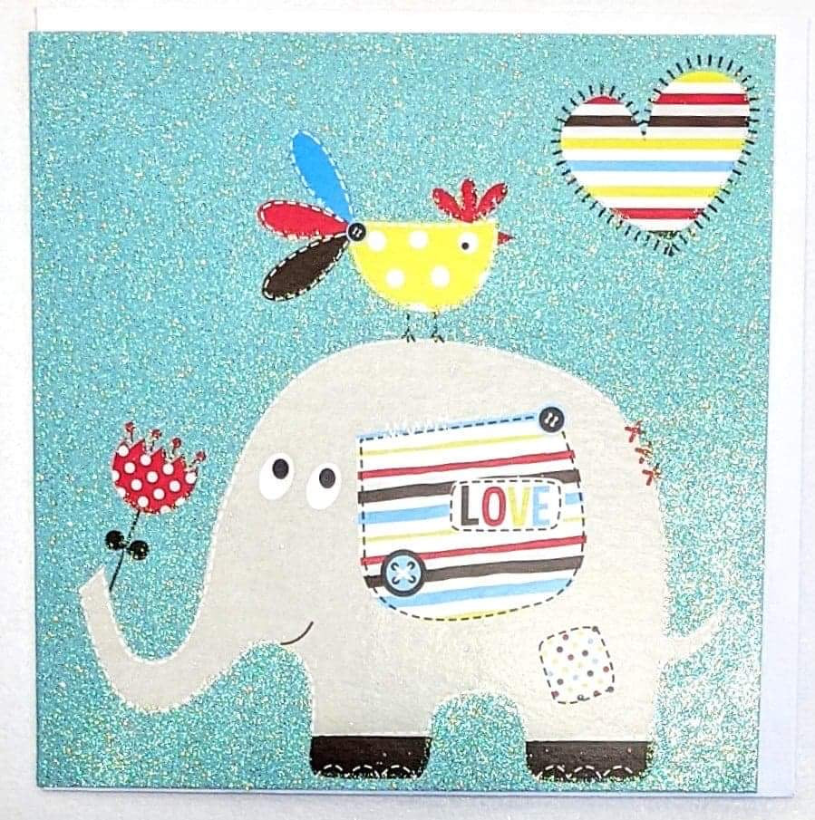 Elephant Birthday Greetings Card