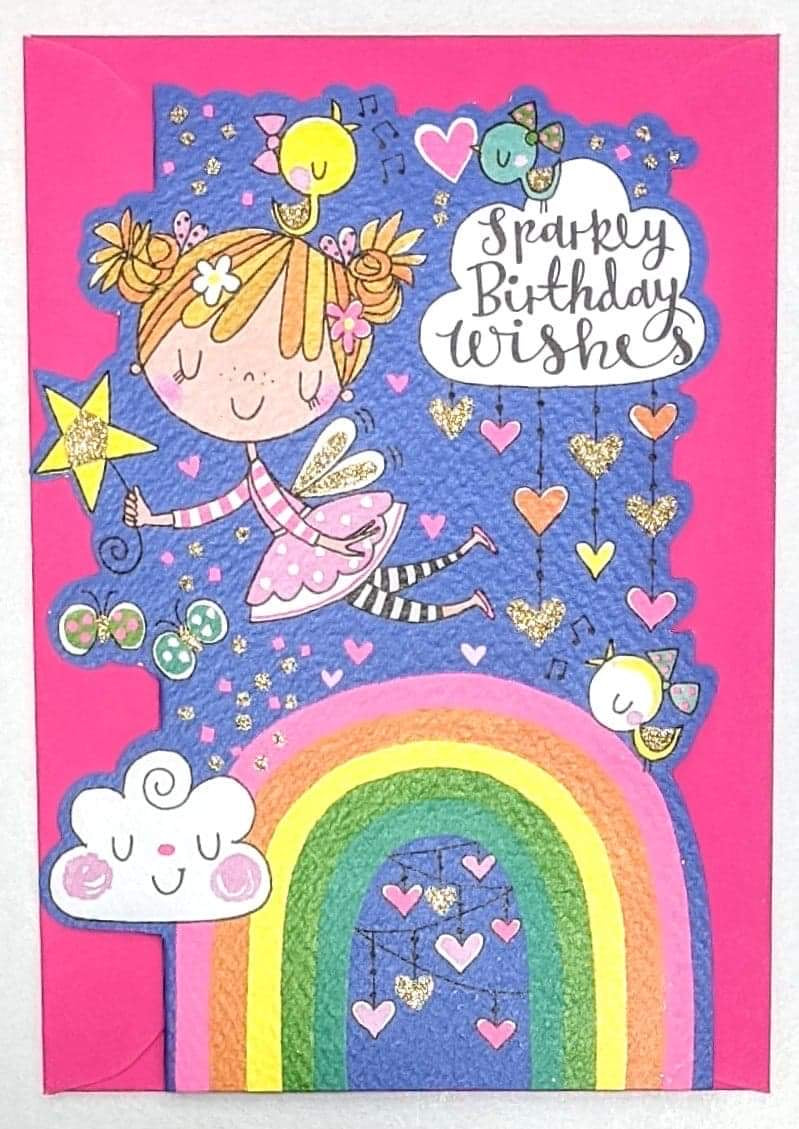 'Sparkly Birthday Wishes' Greetings Card