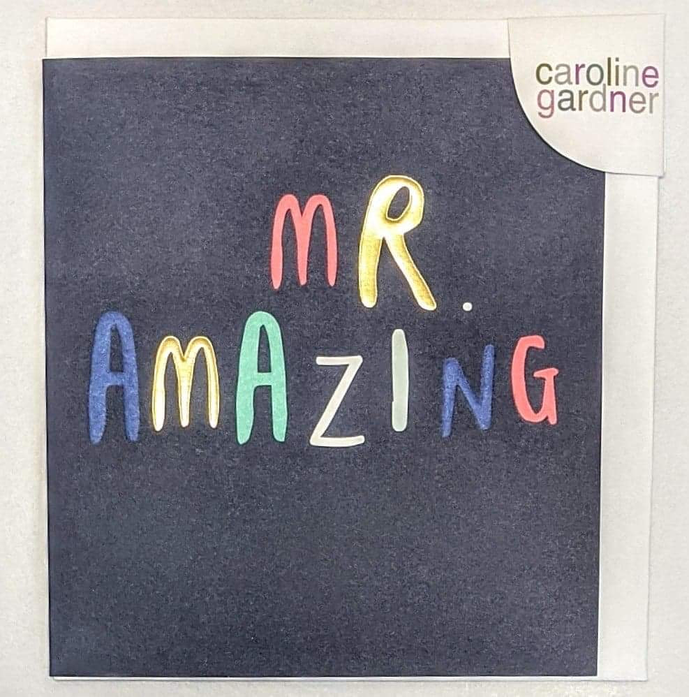 'Mr Amazing' Caroline Gardner Greetings Card