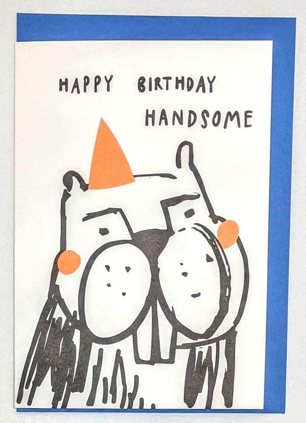 'Happy Birthday Handsome' Caroline Gardner Greetings Card
