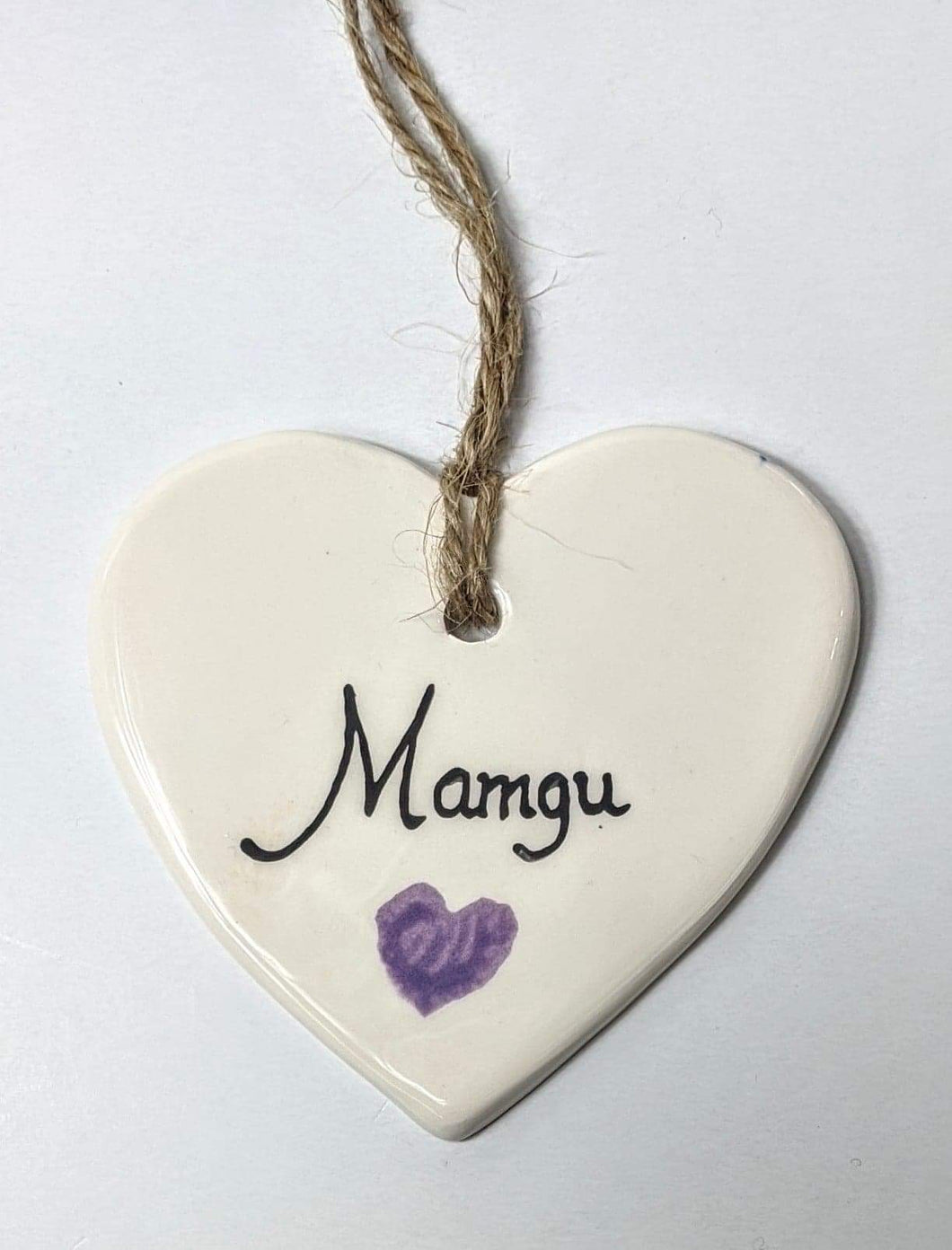 Handmade 'Mamgu' Porcelain Sign