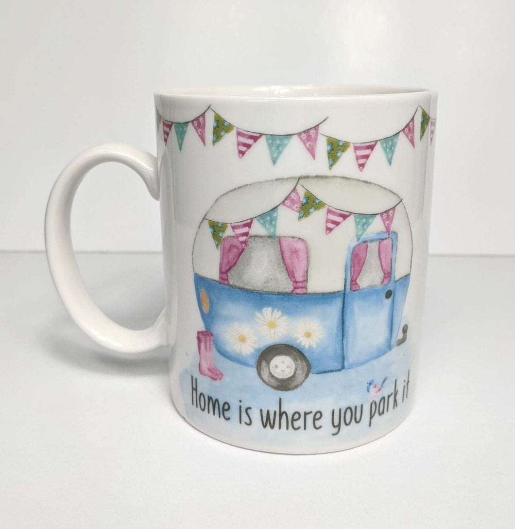 'Home is Where You Park it' Campervan Mug