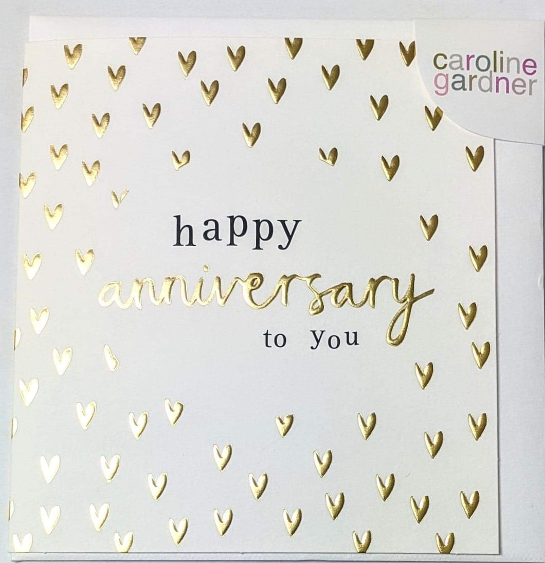 'Happy Anniversary To You' Caroline Gardner Greetings Card