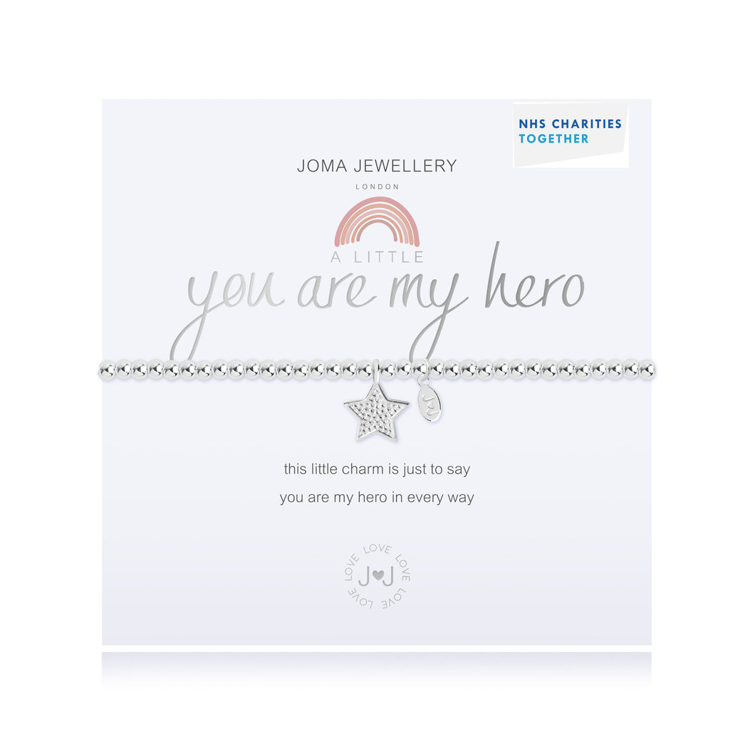 Joma Jewellery's NHS 'A Little You Are My Hero' Bracelet