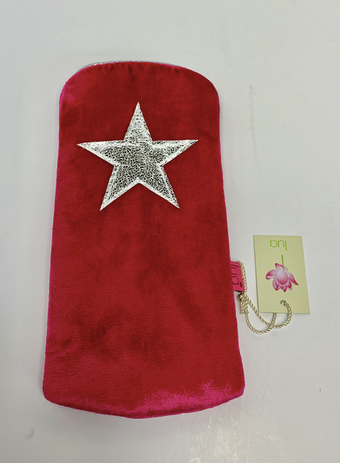 Lua Velvet Padded Glasses Case with Star