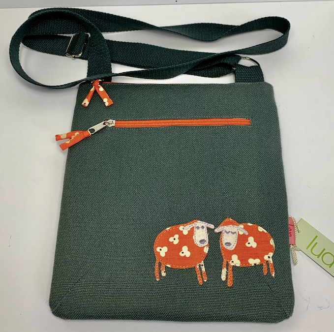 Lua Grey Handbag with Orange Sheep