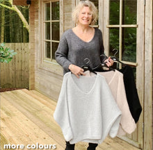 Load image into Gallery viewer, Mohair Mix Charcoal Grey Jumper