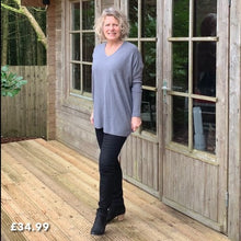 Load image into Gallery viewer, V Neck Jumper in Grey or Navy