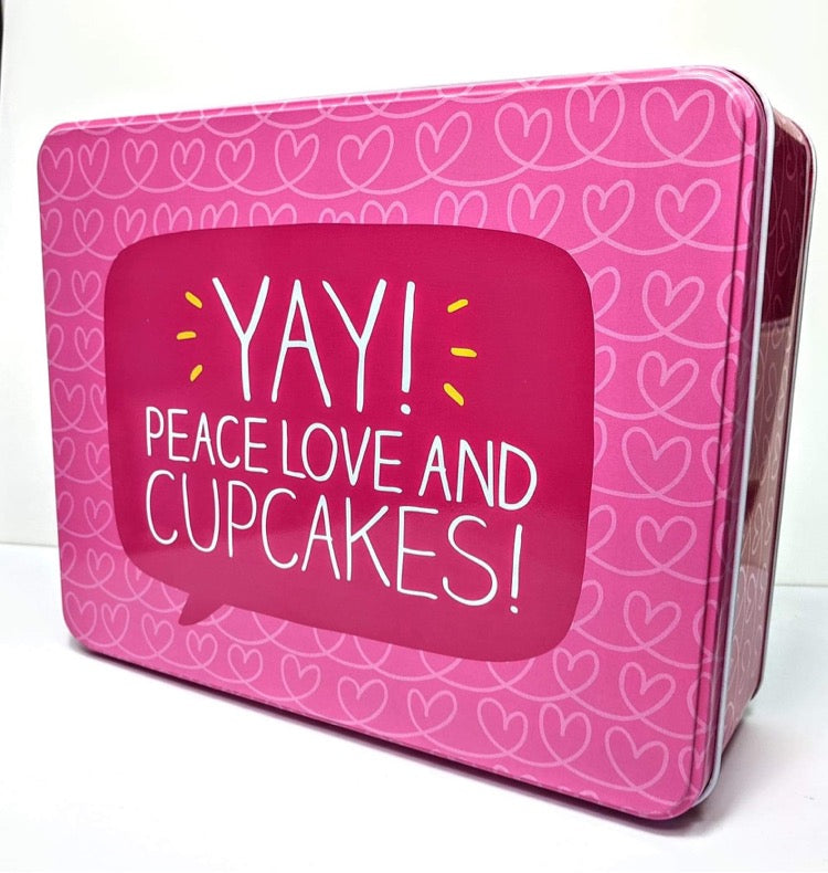 Bright Side's 'Yay! Peace, Love and Cupcakes' Tin