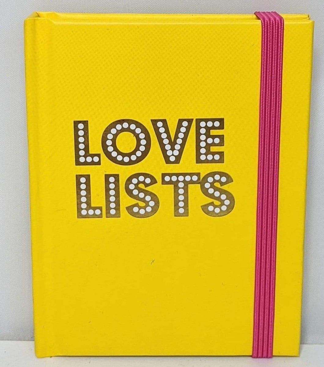'Love Lists' Small Notebook