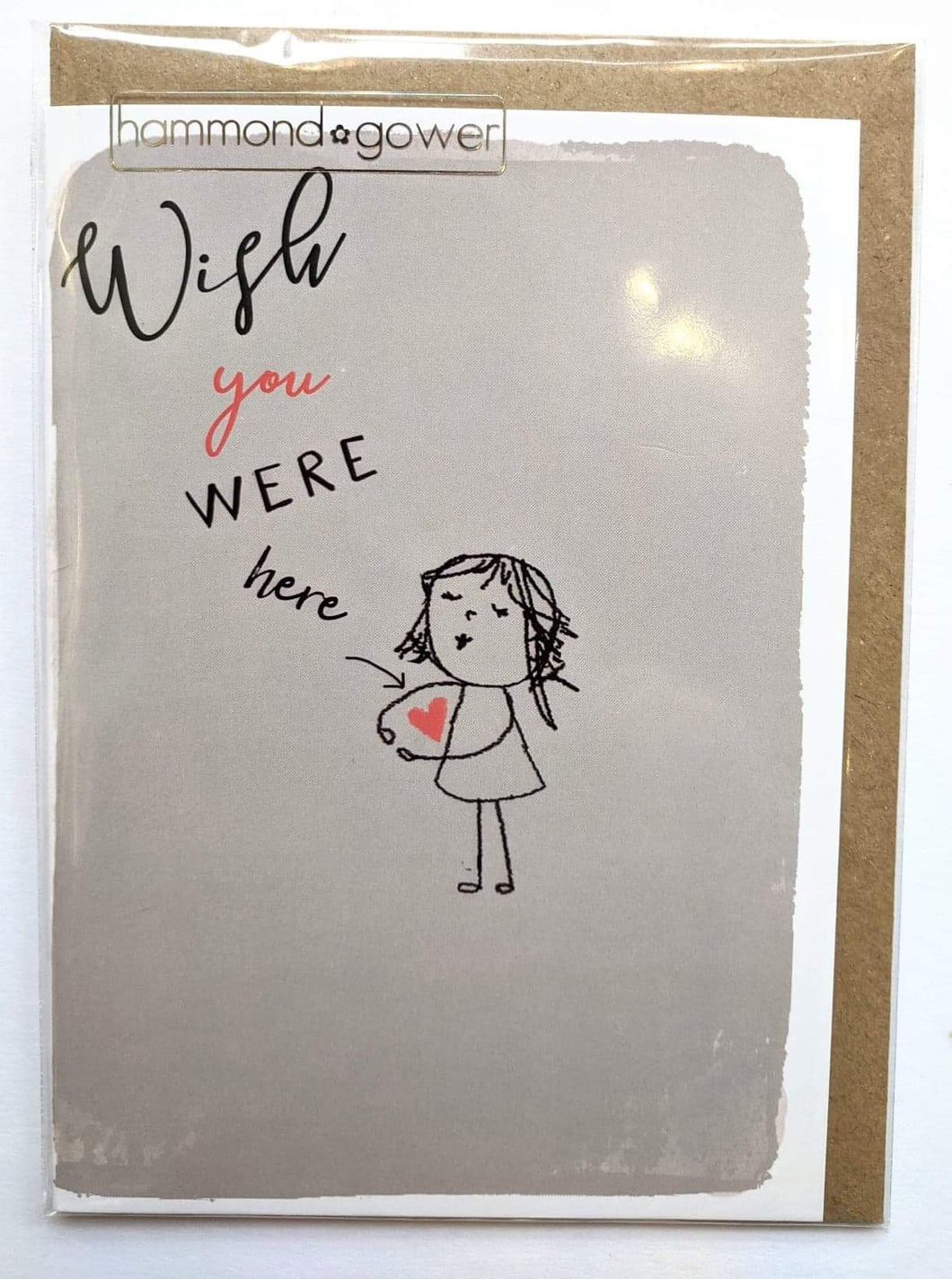 'Wish You Were Here' Valentine's Day Card