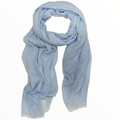 Light blue elegant evening scarf