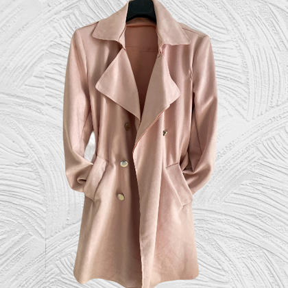 Pink suede feel lovely jacket