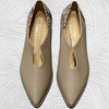 Nude leather loafers with animal details