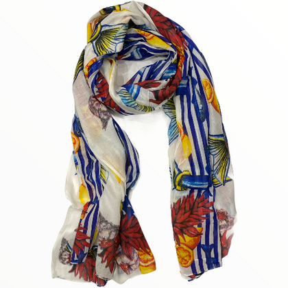 Greek summer colors scarf-pareo