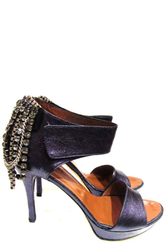 Dea blue metalic glamour leather high heels.Super confortable as well