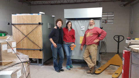 Installing new Bailey Kilns at the Ann Arbor Potters Guild