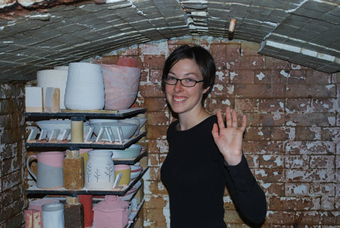 Stacking the Old Abernathy Kiln at the Ann Arbor Potters Guild
