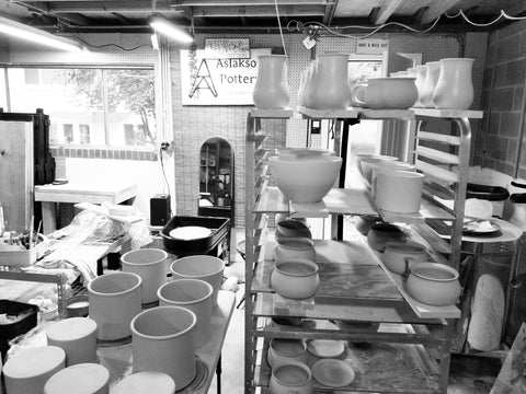 Black and White image of Aslakson Pottery Studio