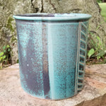 Load image into Gallery viewer, Utensil Holder in Aqua Chevron Pattern - Large