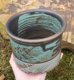 Load image into Gallery viewer, Utensil Holder in Aqua Basket Weave Pattern - Small