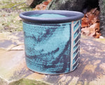 Load image into Gallery viewer, Utensil Holder in Aqua Chevron Pattern - Small