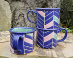Load image into Gallery viewer, 'Camp' Mugs in Amethyst Chevron Pattern
