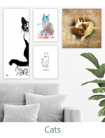 Personalized Cat Gifts and Cat Decor