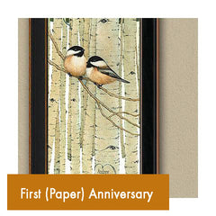 Personalized Romantic First Anniversary Paper Anniversary Art Gifts for Couples
