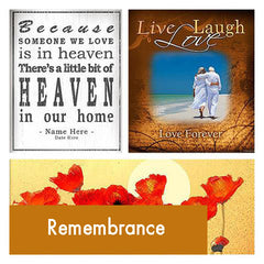 Personalized Remembrance Bereavement Art Gift
