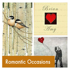 Personalized Romantic Occasions Art Gifts
