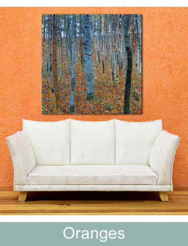 Color orange home wall decor inspiration art