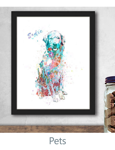 Personalized Pet Art Prints