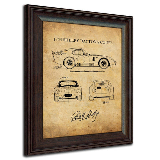 1965 Shelby Daytona Coupe Art Blueprint Drawing
