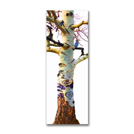 Aspen Tree Art Personalized with your name in heart
