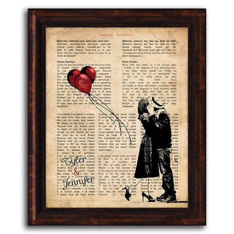 Amour Eternel Framed Canvas