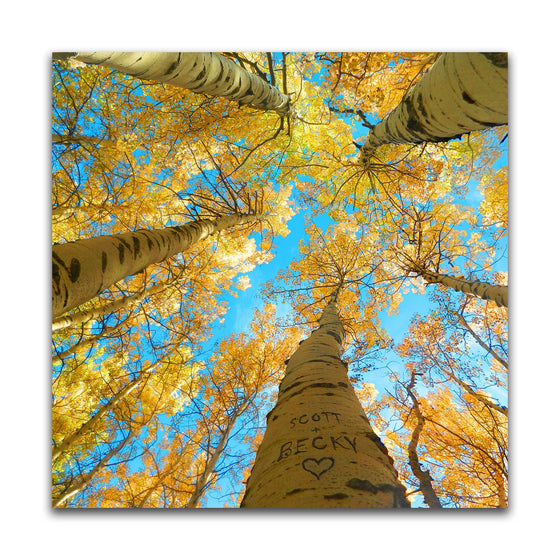Aspen Tree Art Personalized in heart