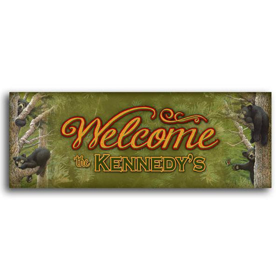 Personalized art welcome sign - Personal-Prints