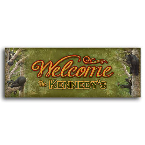 Personalized cabin sign - Welcome
