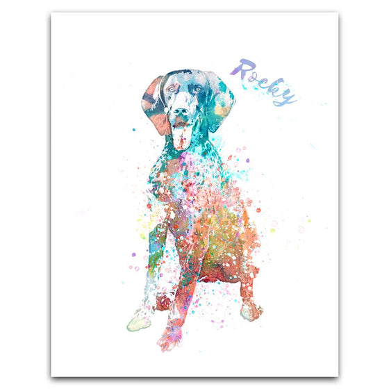 Shorthaired Pointer Watercolor Print