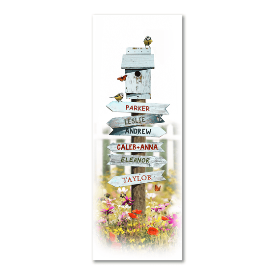 Personalized Sign Post on a Country Road - Personalized art gift from Personal Prints