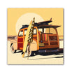 Surfer Woody Wagon Art Print
