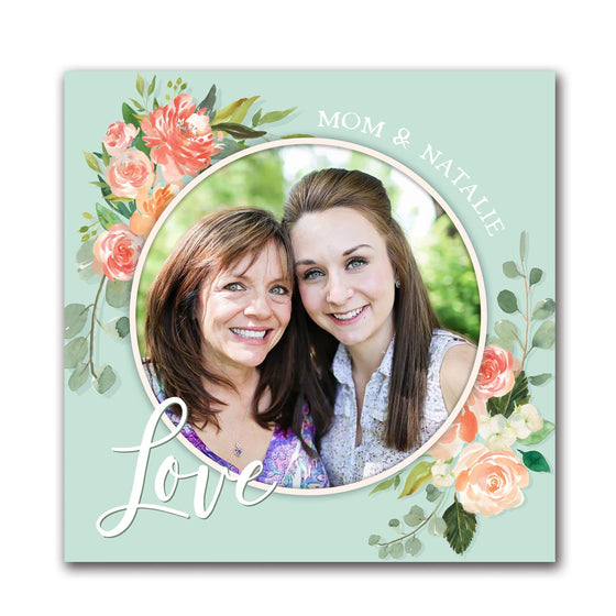 Customized photo to art watercolor floral print from Personal-Prints