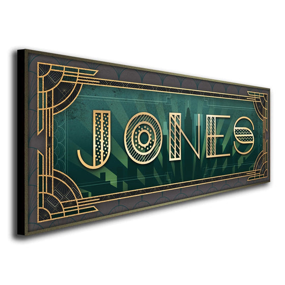 1920s Art Deco Wall Decor - Personalized with Your name